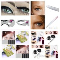 Wholesale 2016 Eyeliner Template Women s Fashion Videos smoky cat eye makeup eyeliner Beauty tools Beauty set of Color Black