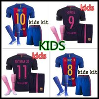 barcelona custom jersey - Thai Quality custom kids Barcelona Home Away jerseys MESSI SUAREZ NEYMAR JR I RAKITIC Jersey