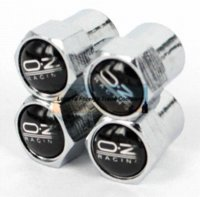 automobile tags - 4caps automobile wheel tire tyre valve cover caps with OZ car logo cap tag valve npt