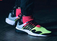 bamboo shoes - fashion Acronym Air Presto Mid Running Shoes Cheap Sneaker Trainers Sportswear Black bamboo Lava olive cargo green Sports Running Shoes