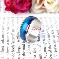 Wholesale Changable Colors Mood Rings Women Men Hotsale Temperature Change Emotion Feeling Band Ring