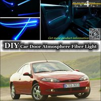 ambient lighting ford - For Ford Cougar Door Panel illumination Refit DIY Tuning Atmosphere Fiber Optic Band Lights interior Ambient Light