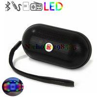 2.1 batteries center - Mini Portable Y28S Pulse Pill Speaker Wireless Bluetooth Speaker Colorful LED Light FM TF Card Built in Battery Handsfree HiFi Sound Box
