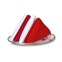 Wholesale 4 Pieces cm White Red Table Napkins Cloth Cotton Linen Napkins For Wedding Party Dining Event Restaurant Banquet