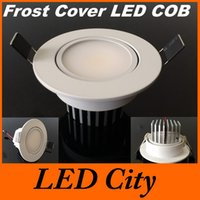 Wholesale Frosted Face W Led COB Downlights Recessed Fixture Lumens Warm Cool White Dimmable Led Fixture Down Light Beam Angle