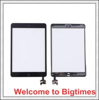 Wholesale Excellent quality New iPad mini For the third iPad mini Touch Screen Digitizer with home butoon adhesive Free DHL Shipping