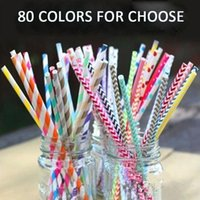 flower paper straws - 50pcs Wedding Striped Paper Straws Paper Drinking Straws For Kids Birthday Party Wedding Decorations Colors for Choose