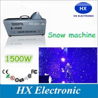 auto usa machine - High quality A w snow machine snow maker remote or wire control can choose stage effect equipment with