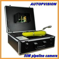 Wholesale 50m Cable TFT LCD Sewer Pipeline Endoscope Inspection Snake Camera Steel Lens IP68 Waterproof with dvr function