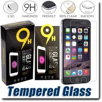Wholesale Tempered glass For iPhone SE s s plus Samsung S7 S6 Anti fingerprint Screen Protector for iPhone S Galaxy Note With Paper Package