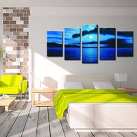 beautiful moon pictures - LK576 Panels Seascape Moon Oil Paintings Beautiful Oil Painting Seascape Paintings art Canvas Printing Decoration Oil Paintings For Sal