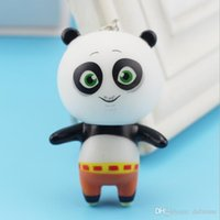 acrylic doll - 2016 Cute Cartoon Kungfu Panda Key Chain panda doll toy keychain animal keychain Fashion jewelry Cheap