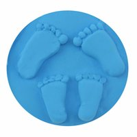 Wholesale Colors Fashion Newborn Baby Handprint Footprint Imprint Kit Air Drying Soft Clay Casting Light Hand Print Inkpad