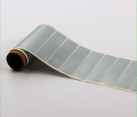 Wholesale 10000pcs labels sub sliver rolls cm size tags Copperplate materials for Copperplate printing Barcode printer