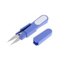 Wholesale IMC Hot Metal Blade Plastic Handle Cross Stitch Fishing Line Scissors Cutter With Cap