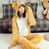 bear lover costume - Easy bear animal one piece sleepwear flannel lounge lovers autumn and winter thickening cosplay