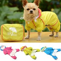 apparel dust coat - Pet Puppy Dogs Clothes Hooded Raincoat Waterproof Slicker Dust Coat Jumpsuit Dog Apparel