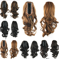 big pony tail - Elegant PC Curly Claw On Ponytail Hair Extension g inch Short Pony Tail Big Wavy With Clip Synthetic Hair Extension