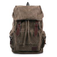 Wholesale Fashion Multifunction College Student Backpack Canvas Undergraduate Women Men Shoulder Travel Backpacks Unisex Bag Casual Satchel MSB002