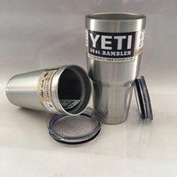 Wholesale 2016 New Hot Stainless Steel YETI oz Cup YETI Rambler Tumbler For Travel Vehicle Beer YETI Mug Tumblerful Bilayer Vacuum Insulated