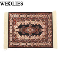 bamboo office mat - Persian Rug Mouse Pad Custom Bohemian Style Mouse Mat Comfortable Surface Carpet Rubber Cotton Computer Desk For Home Office