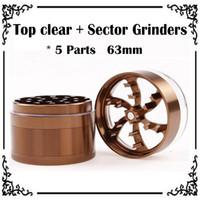 Wholesale TOP Quality Transparent Cover Petal Grinders mm Parts Aluminium Alloy Metal Grinders Herb Grinders Herb Crushers Tobacco Grinders