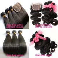 Wholesale Brazilian Hair Bundles Malaysian Peruvian Mongolian Indian Extension Straight Body wave Natural Color Unprocessed Human Hair Weave