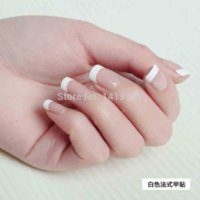 artificial nail gel - 500PCS White French False Nail Acrylic Nail Tips UV Gel Fake Nail Sizes Artificial False Nail