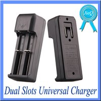 Wholesale Dual Slots Universal Charger Battery For Rechargeable Li ion Battery Battery DHL