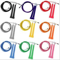 Wholesale crossfit Ultra adjustable Speed Cable Jump Ropes steel wire m long adjustable wire rope skipping fedex