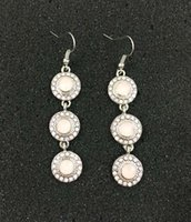 alloy castings - Prebeauty opal glass stones round castings linear earring DSW silver dangling stone earring lead and cadmium free