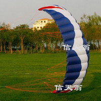 big bag accessories - high quality cm Four line Line Stunt Power kite quad line kite surfing kite boarding hot sell with handle