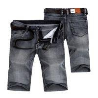 Cheap Summer Mens Shorts Jeans Straight Denim Breathable Fashion Casual Men Knee Length Jeans Three Colors AL01