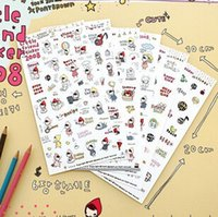 Wholesale 5set cute cartoons photo album diary decorative stickers for scrapbooking kawaii sticker on paper