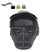 Wholesale Outdoor Sport Equipment Airsoft Shooting Face Protection Gear Metal Steel Wire Mesh Full Face Tactical Airsoft Mask