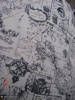 Acheter Cartes haute-Tulle, Zakka, Bricolage, vente en gros, prix le plus bas, de haute qualité, 1,55 mètres large toile de tissu fait main (carte du monde)