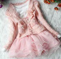 beautiful winter coats - Hot Retail Beautiful Girls Jackets Cardigan and Dimante Dress Tutu baby kids coat dress