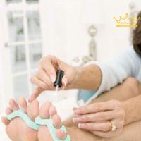 Wholesale 1pair EVA foam toe separator Soft foam Nail Tools Toe Finger Separator feet care braces supports nails tools