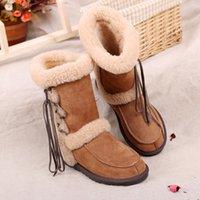 australian wool boots - Tassel sheepskin boot Australian real sheepskin lambskin double face winter snow boot long wool women shoes