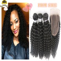 Wholesale Brazilian Hair Cheap Unprocessed A Peruvian Indian Malaysian Hair Extension Hair Kinky Curly With Closure With Eyelash Gift