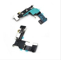 Wholesale White Color For iPhone S Dock Charging Port Headphone Jack Mic Connector Flex Cable Repair track No
