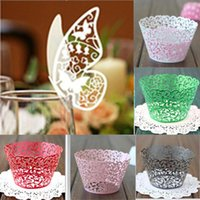 baby candy wrappers - 2014New Fashion Set Filigree Vine Cake Cupcake Wrappers Wraps Cases Wedding Birthday Baby