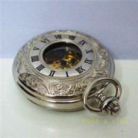 Acheter Cru mens watch automatique-livraison gratuite! anciennes automatiques mens collier de montre pendentif ruban romain chaîne de montre de poche millésime montre militaire mécanique
