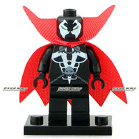 al toys - The Spawn with Red Cloak Al Simmons SUPER HEROES Assemble Minifigures Model DIY Building Blocks Kids Toys Gifts