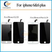 Wholesale Grade A Black White LCD Display Touch Digitizer Complete Screen with Frame Full Assembly Replacement for iPhone iphone plus DHL ship