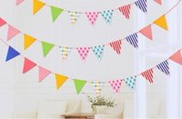 banners pennants - New Arrive Flags Bunting Pennant Flags Banner Garland Wedding Birthday Baby Shower Party Decoration