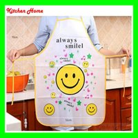 apron material - Waterproof Oilproof Adult Kitchen Apron Pinafore Without Sleeve Lovely Cute Multi Cartoon Designs for Lady Cooking PVC Material