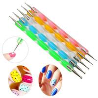 Wholesale 5Pcs Set Two Way Dotting Pen Dotting Tools Marbleizing Painting Nail Art Tools