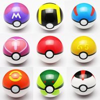 Wholesale 15pcs Colour Cute Poke Ball Pokeball Mini Model Classic Anime Pikachu Super Master Ball Action Figures Toys cm and cm