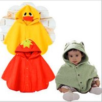 baby cloak pattern - retail PC years baby new autumn and winter duck strawberry and frog pattern unisex baby cloak TRQ0163